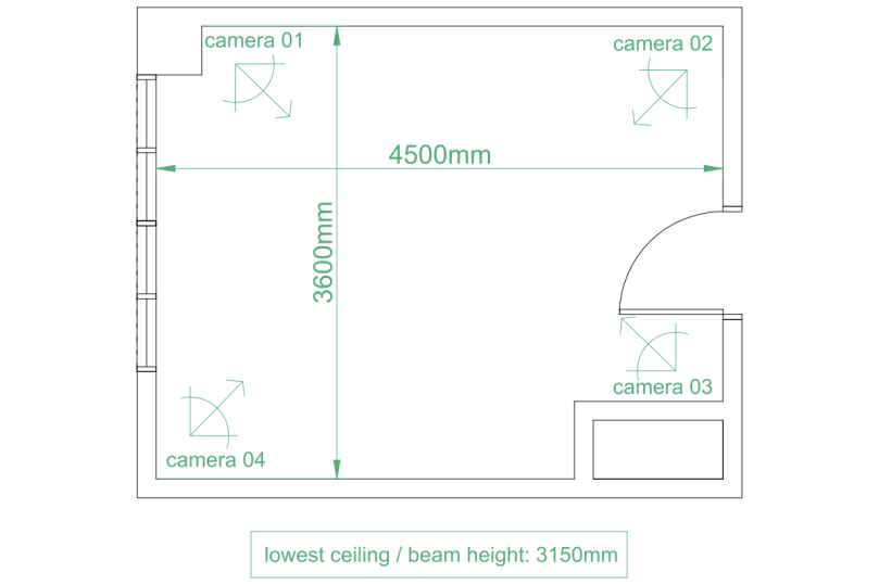 room measurement diagram