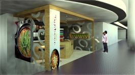 kiosk cafe interior design Subang Shopping Mall Malaysia
