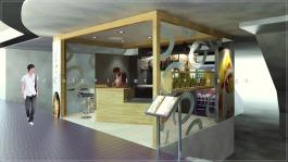 kiosk cafe interior design Sunway Pyramid Malaysia