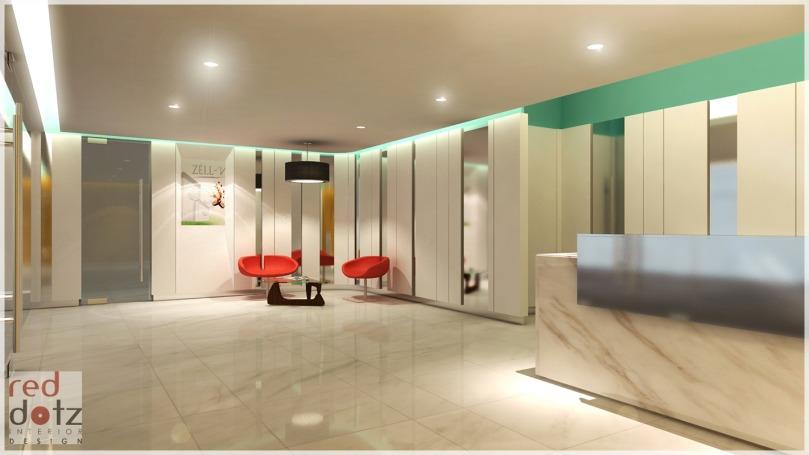 office reception interior design 3D Kuala Lumpur