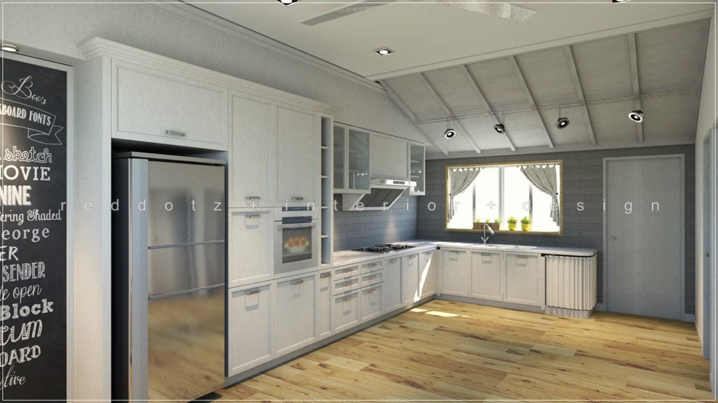Cottage Green Kitchen Interior Design Freelancer Georgetown Penang Get Online