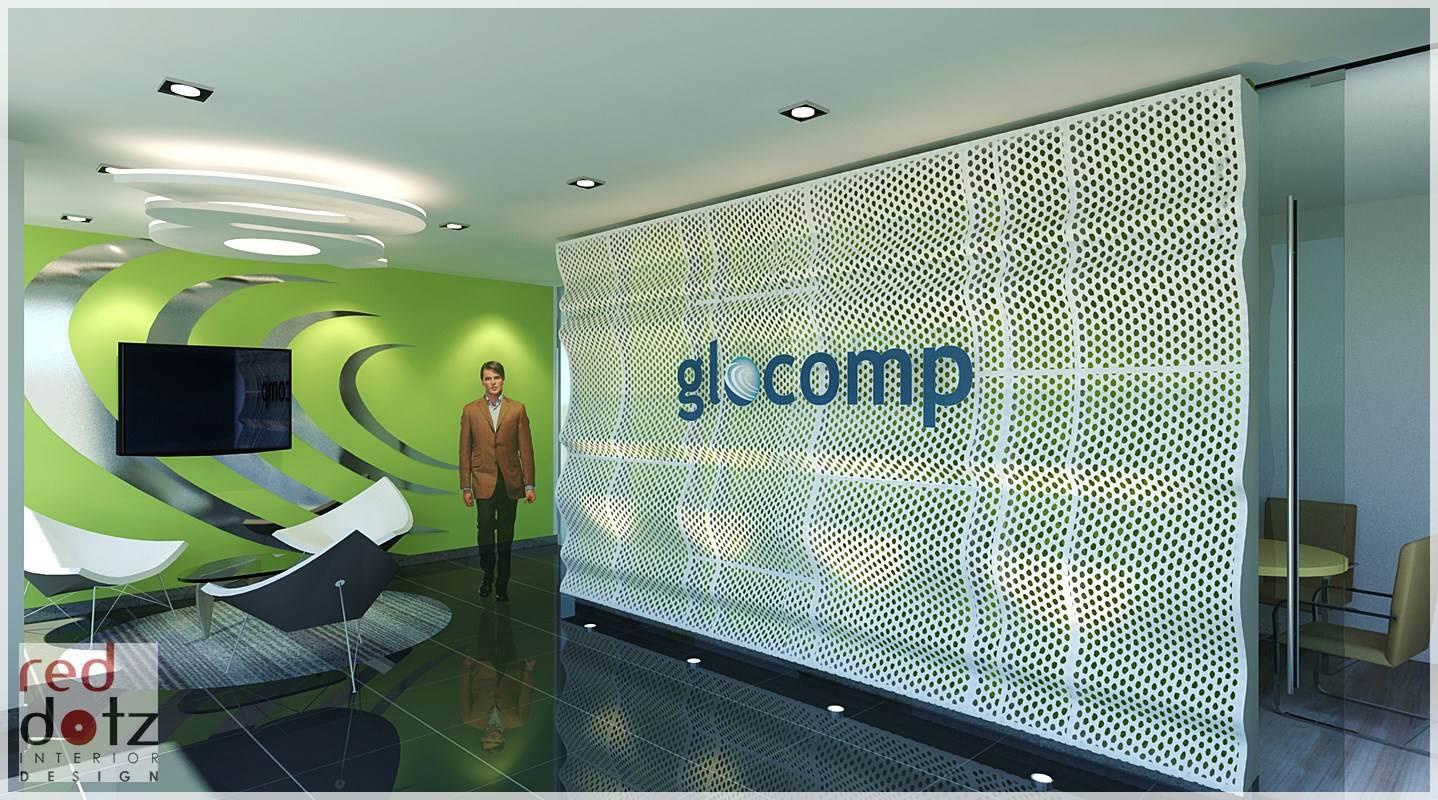 It office reception design kelana jaya get interior for Modern office reception backdrop design