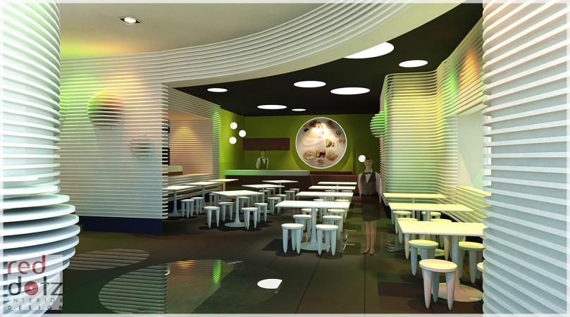 bowling center cafe design concept