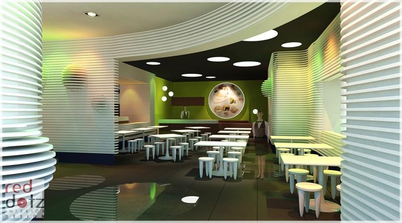 bowling center cafe design concept