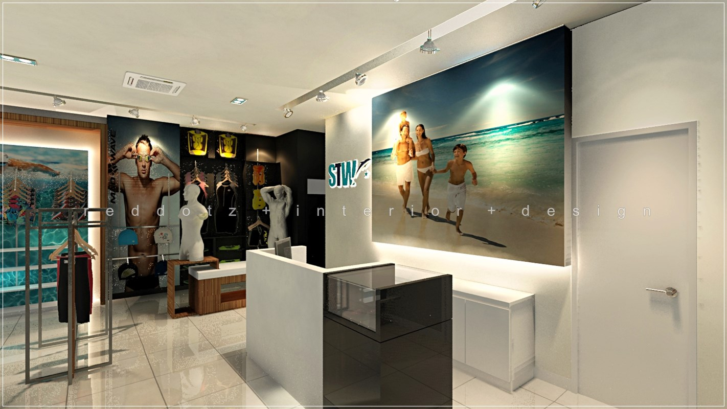 Shopping center retail cashier counter design malaysia for Make interior design online