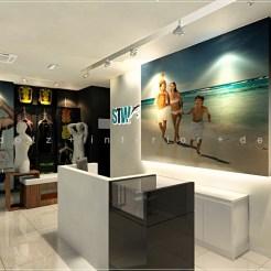 Shopping Center Retail Shop Cashier Counter Design