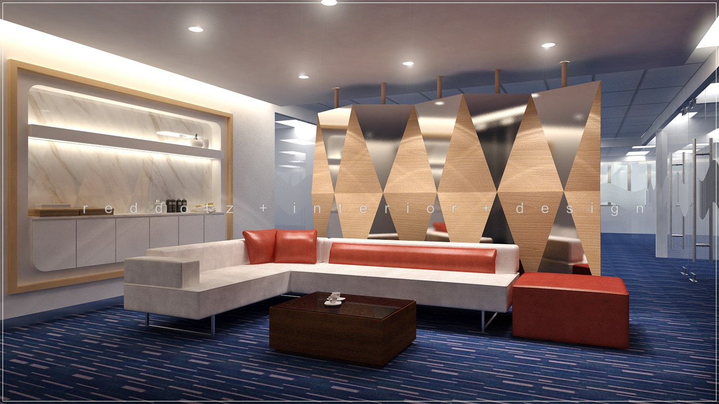 Office Waiting Lounge 3d Interior Design Damansara Perdana