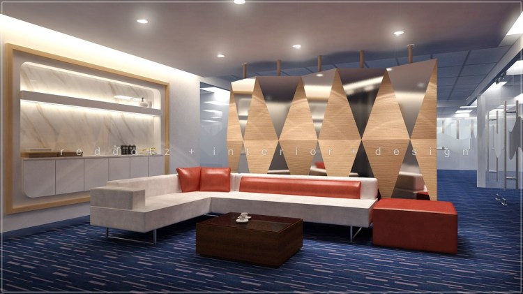 3d office waiting lounge interior design