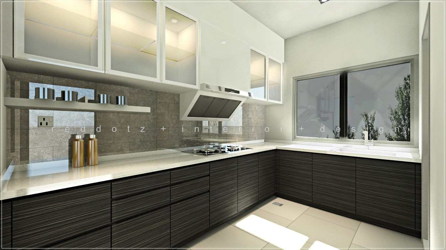 Sentosa modern wet kitchen design get interior design online for Kitchen decoration malaysia