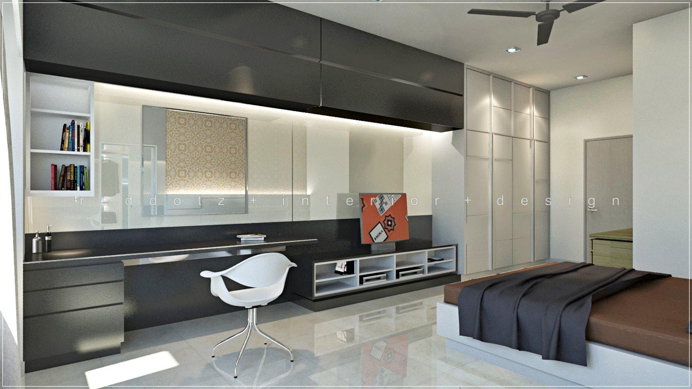 bedroom study dressing table tv cabinet wardrobe design