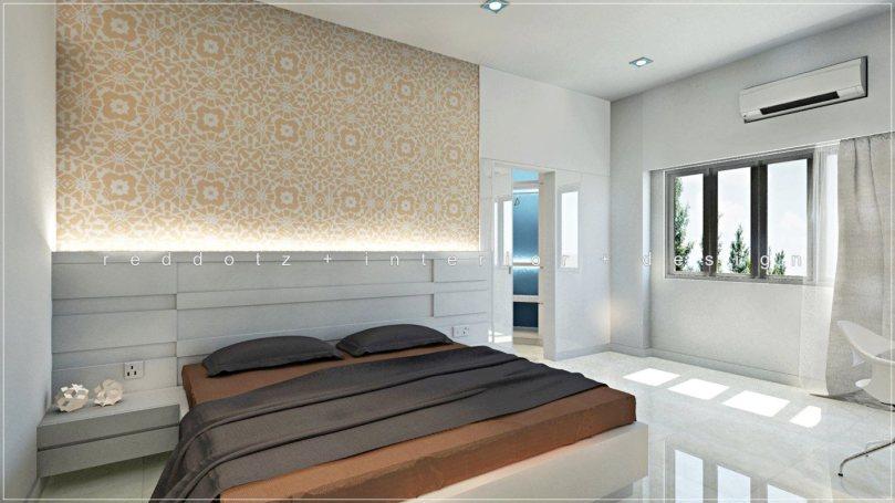 minimalist simple modern condominium bedroom design