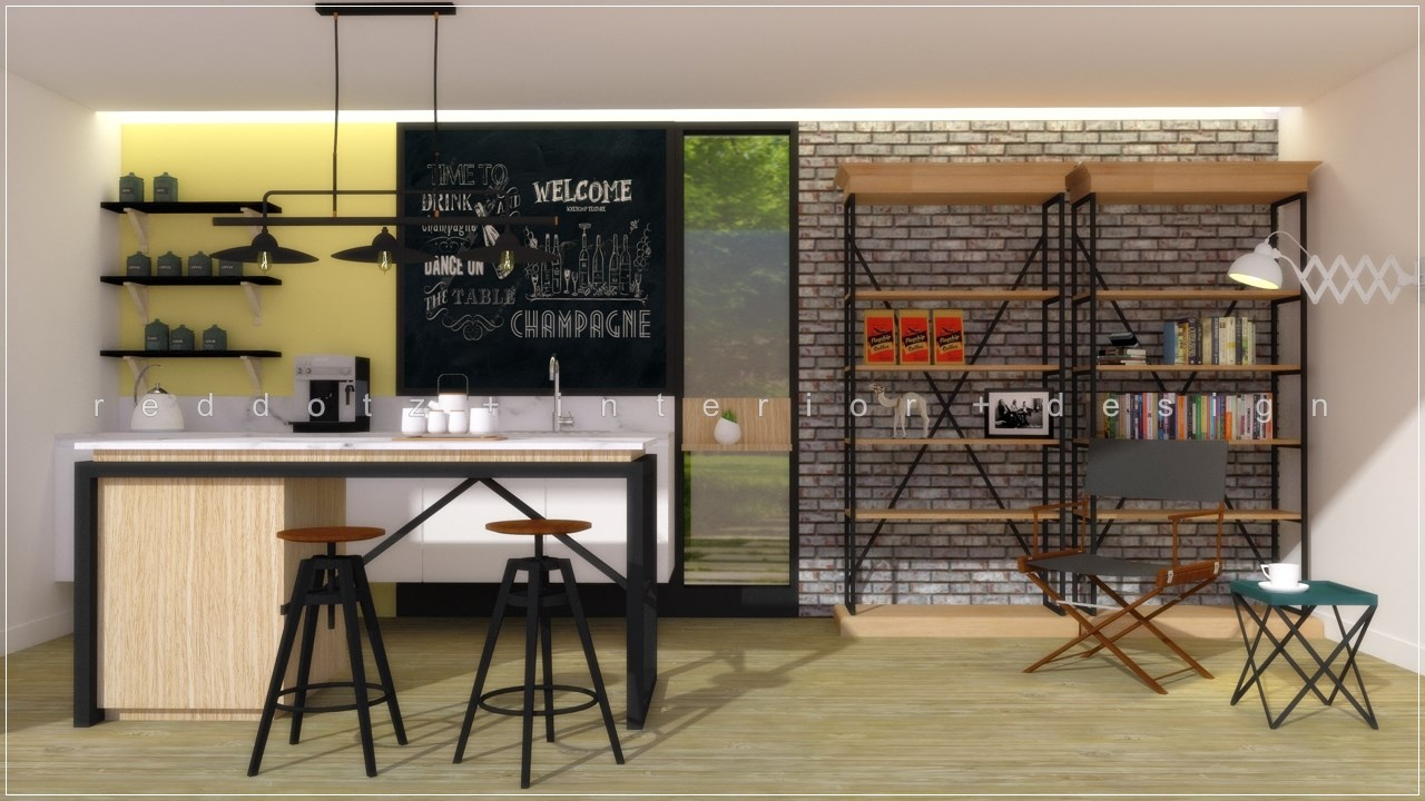 Industrial chic kitchen 3d interior design malaysia get 3d interior design online