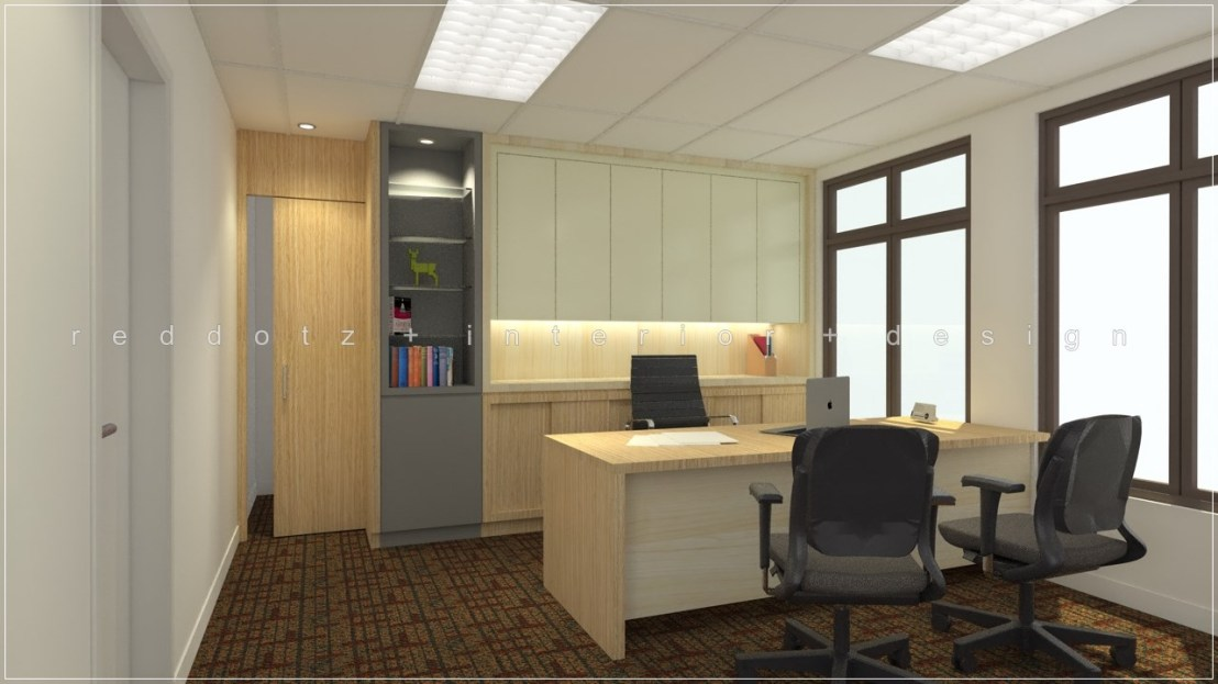 Director manager room design 3d malaysia for Office design malaysia