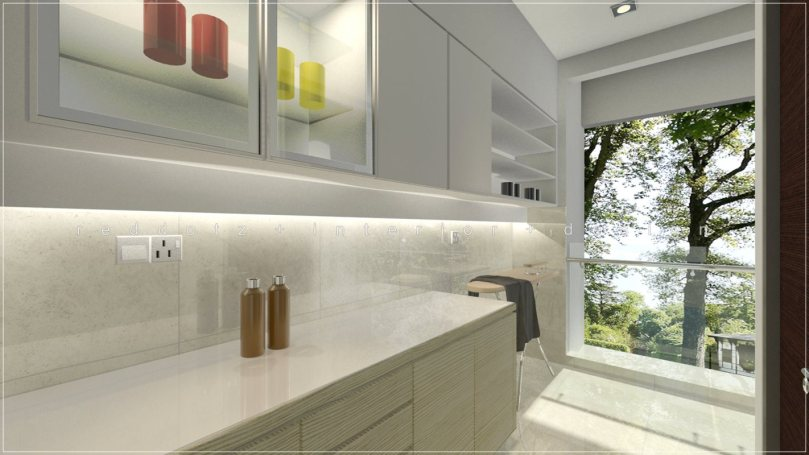 laundry cabinet 3D visual interior design
