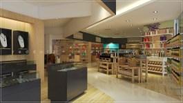malaysia free duty retail shop 3d interior design