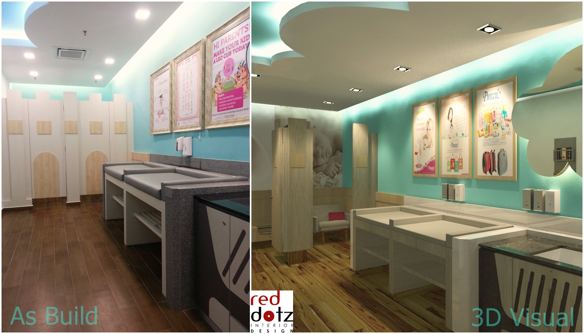 before and after 3d interior design photo Malaysia