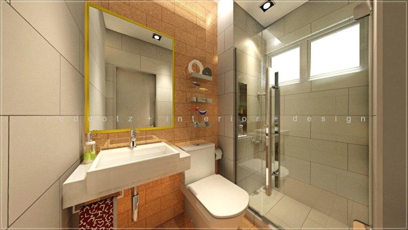 Condomimium Bath Room 3D Interior Design Malaysia