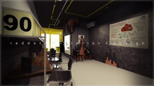 industrial rustic soho office design Shah Alam