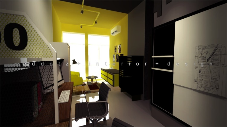 industrial rustic office pantry design Shah Alam