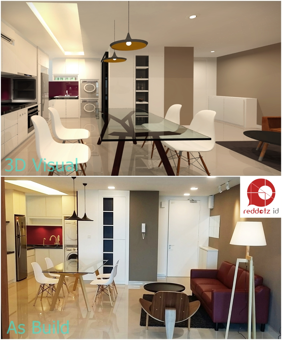 before & after 3d home interior design Malaysia
