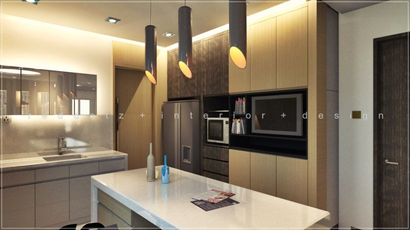 Bukit Tinggi Dry Kitchen 3D Home Design