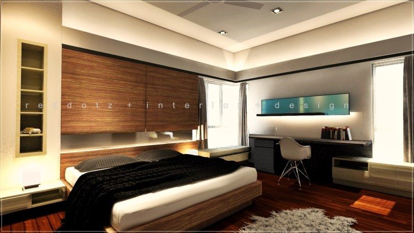 Parkland Home Master Bedroom 3D interior design Malaysia