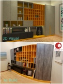 Before and After 3D vs As Build photo Bandar Bukit Raja Study Room Design