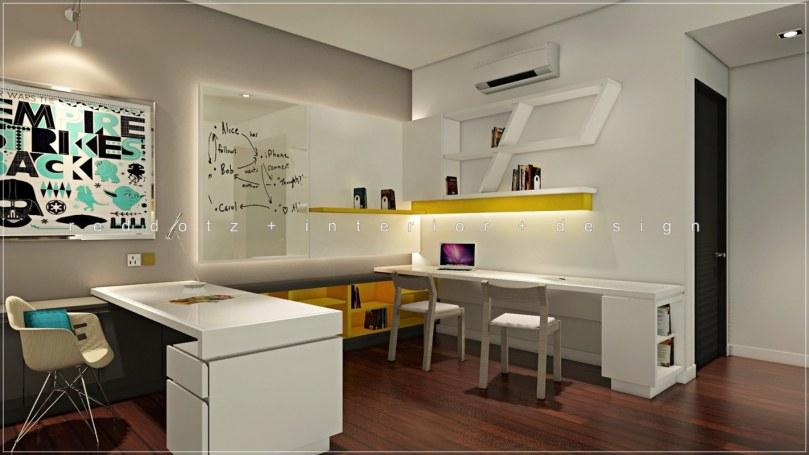 Study room design 3D Setia Damai Malaysia