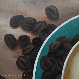 Acrylic Wall Art Painting for cafe Reviving