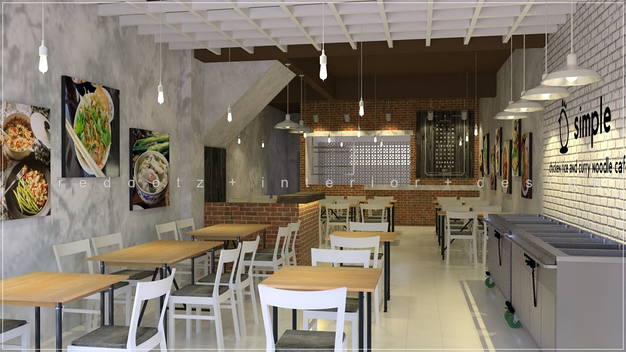 SS15 simple chicken rice restaurant interior design Malaysia