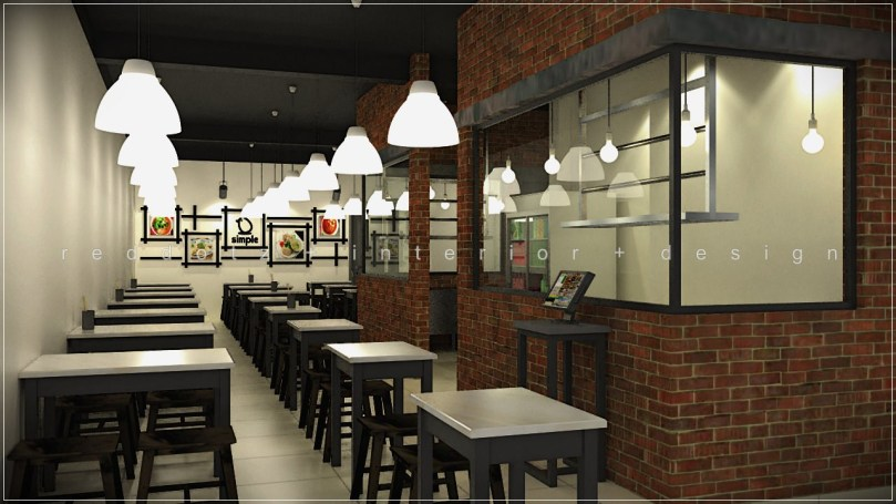 cafe interior design 3d visualization malaysia