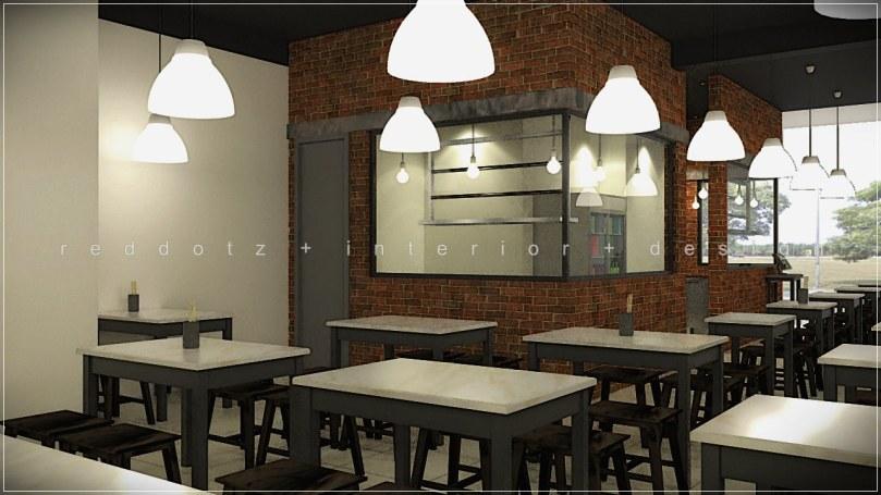 cafe brick wall design 3d malaysia
