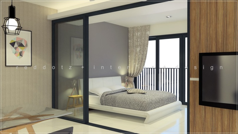soho studio condo bedroom design singapore