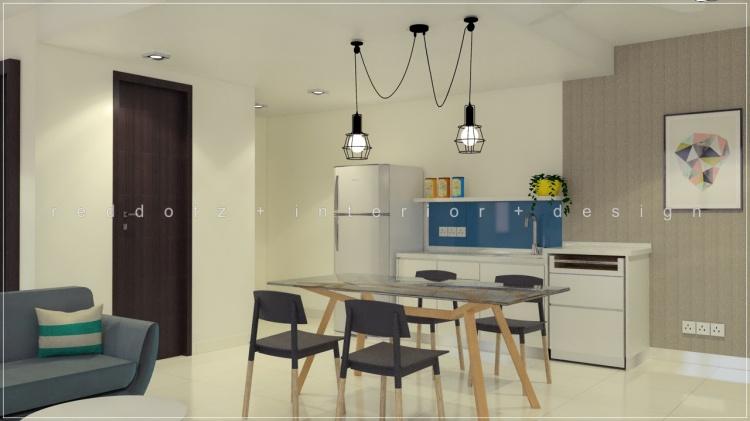 soho studio condo kitchen dining design malaysia