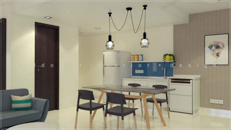 soho studio condo kitchen dining design malaysia