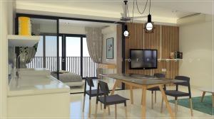 soho studio condo living room design malaysia