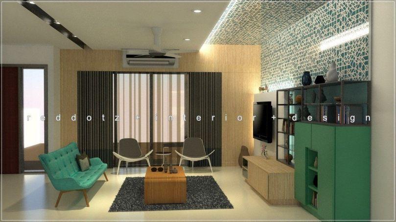 Scandinavian Living Area Design Malaysia