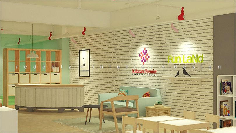 child care center reception design malaysia