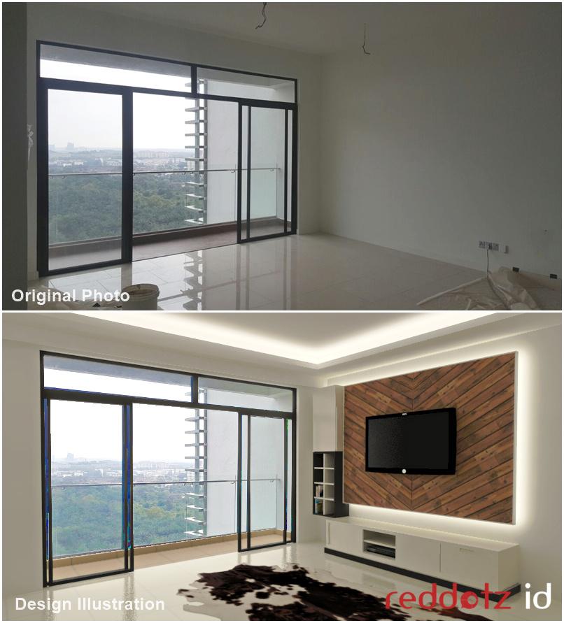 convert photo to interior design 3d Malaysia Singapore