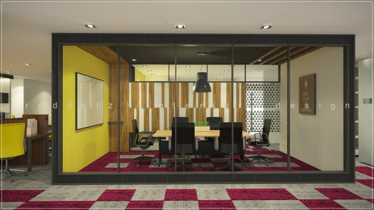 industrial rustic office meeting room design Malaysia