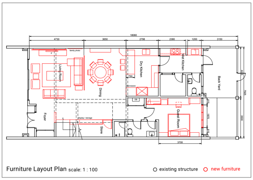 How a well thought furniture layout planning can improve for Furniture layout program