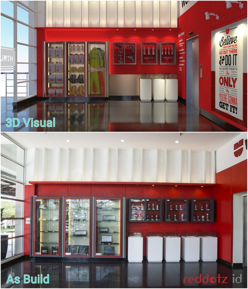 Before and After 3D office interior design Malaysia Singapore