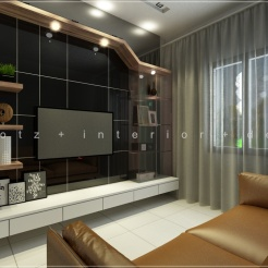 black and white TV cabinet design