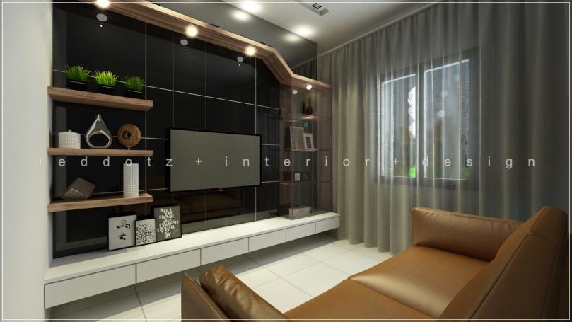 black and white TV cabinet design