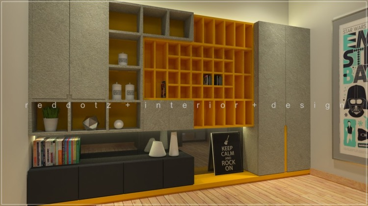 study book shelve and cabinet design