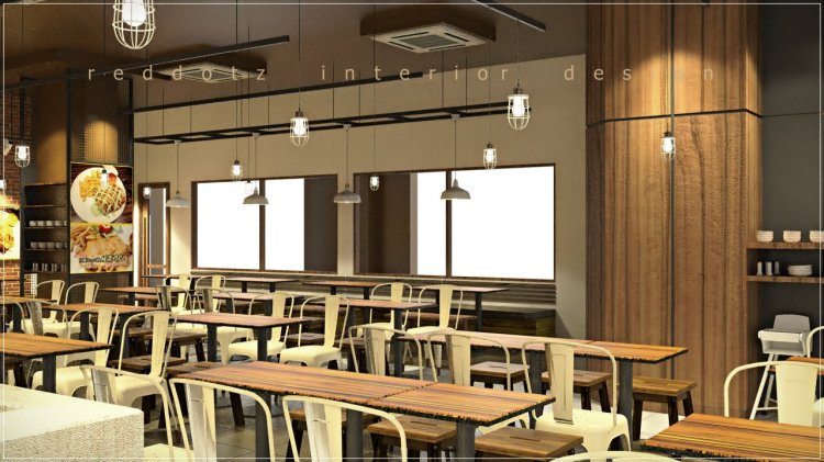 Cafe dining seating arrangement and space planning