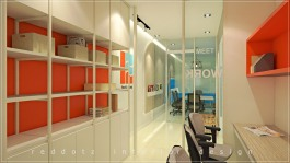 Office Reception Design and Courier Boy Desking Area