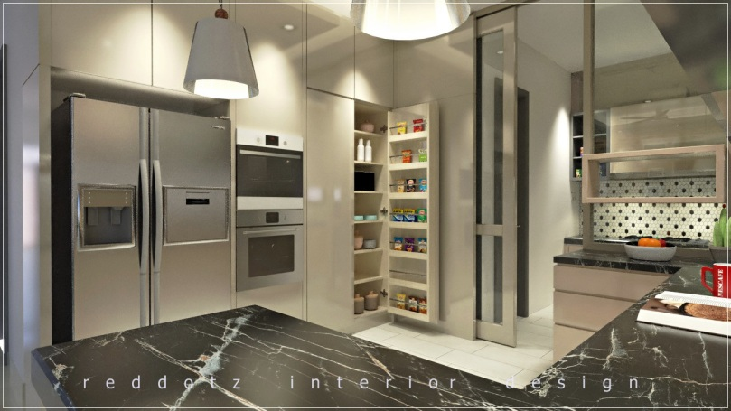 dry kitchen cabinet compartment design Malaysia