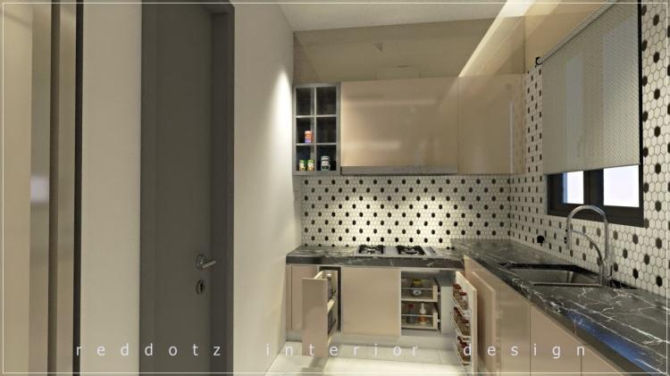 Scandinavian style wet kitchen design Malaysia