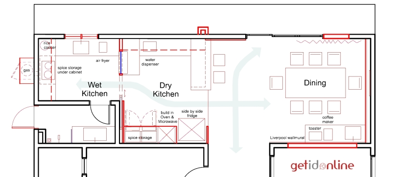 best kitchen layout plan Malaysia